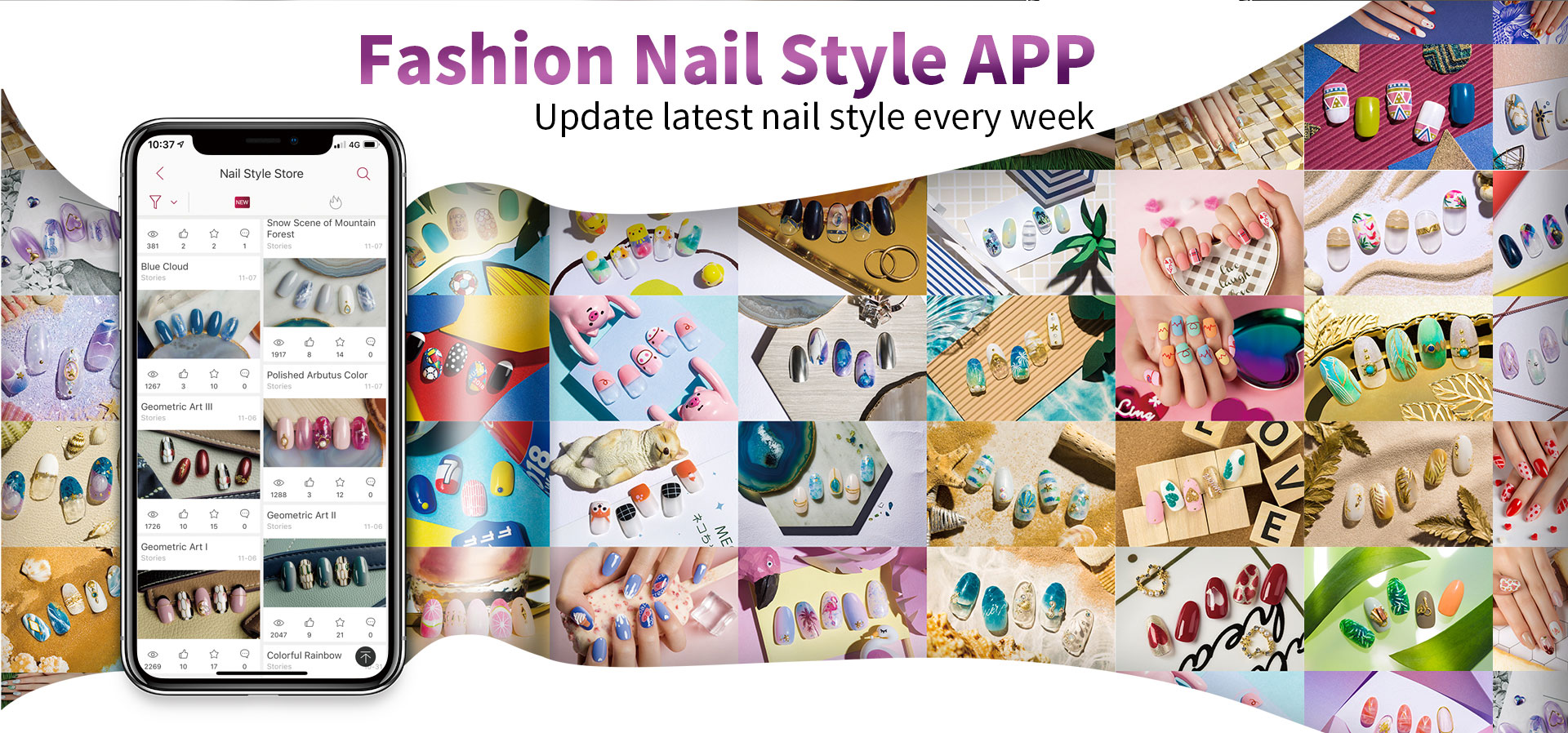 fashion nail style APP update latest nail style every week